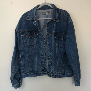 Vintage Bugle Boy Denim Jacket Cotton Size Large
